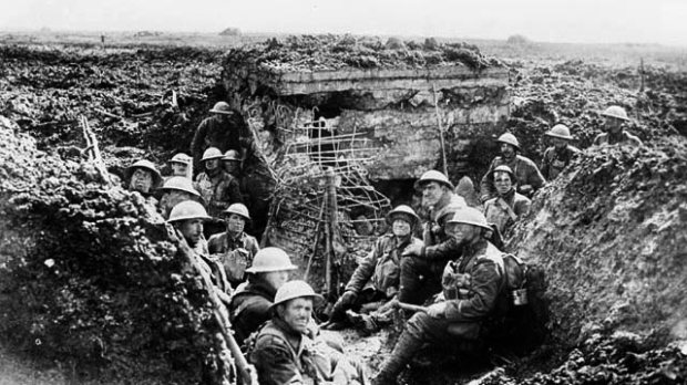 German machine gun emplacement on the crest of Vimy taken over by Canadians.jpg